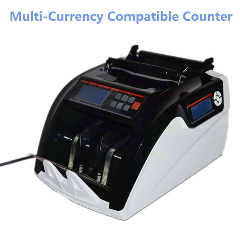 Bill Counter Multi-Currency Compatible Cash Money Counting Machine Suitable for EURO US DOLLAR 5800 ru us aibecy multi currency cash banknote money bill automatic counter counting machine lcd display for euro us dollar aud pound