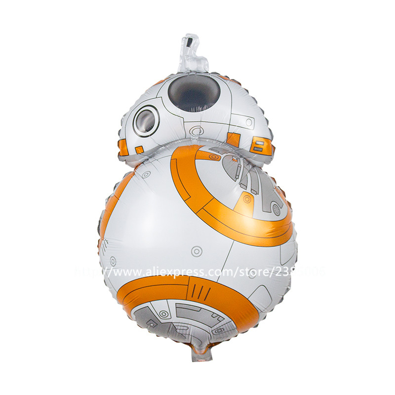 50pcs/lot Star Wars Balloons lovely BB-8 Robot star wars lightsaber foil balloons globos party Balloons Kids Classic Toy