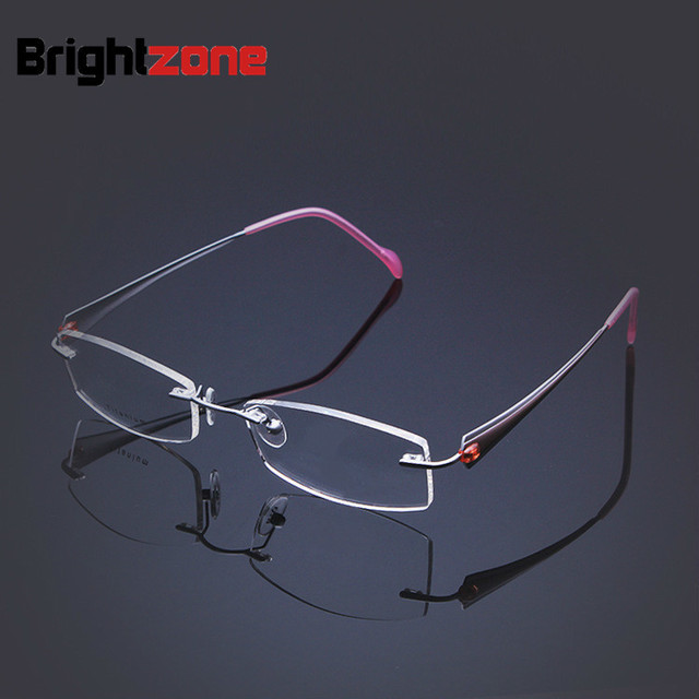 d01d146b30 Women s Business myopia rimless glasses memory B titanium flexible women s eyeglasses  prescription spectacle optical frames