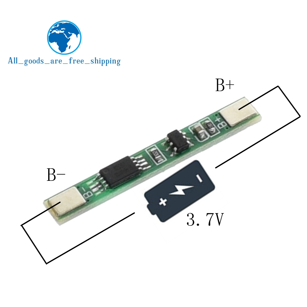 Tzt 5pcs Lot 1s 37v 3a Li Ion Bms Pcm Battery Protection Board Circuit Module For 111v 3s Liion Lipolymer 10pcs