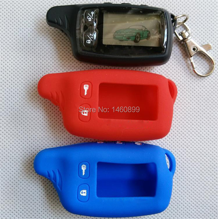 TW9030 LCD Remote Controller Key Fob + Tamarack Silicone Case for TW 9030 Two Way Car Alarm System Tomahawk TW-9030 Keychain