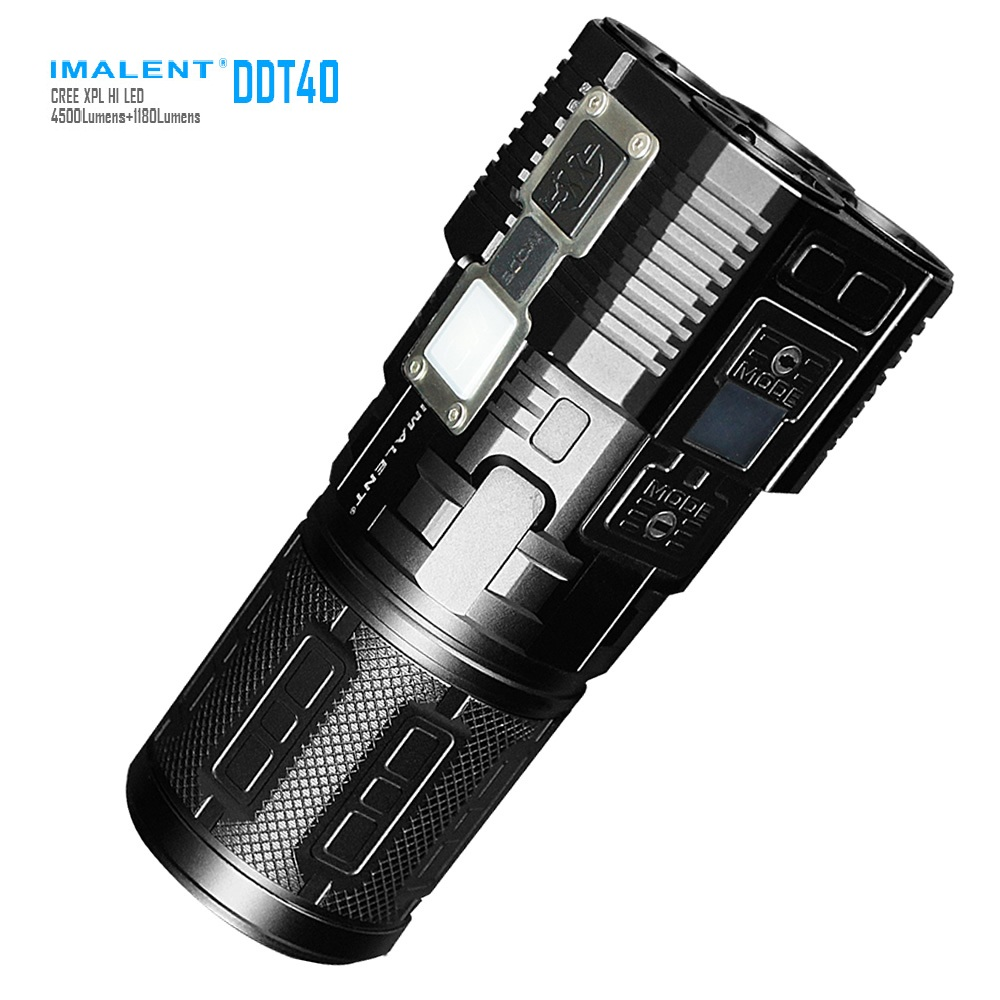 IMALENT DDT40 CREE XPL HI 5180Lumens LED Intelligence Touch Led Flashlight +Free 4PCS 18650 Battery for Searching Light astrolux s2 cree xpl hi 1400lm edc led flashlight 18650
