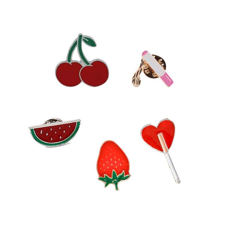 Модные креативные булавки для сексуальных женщин на высоком каблуке сигарета Сердце цветок личные Броши платье джинсовая рубашка бижутерия для девочек