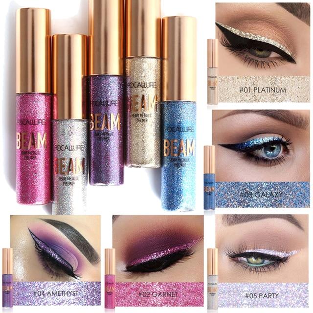 Focallure Glitter Eyeliner Waterproof Makeup Eye Liner Pencils Long