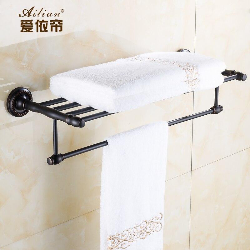 Подробнее о 100% copper Black bronze towel rack full of copper bathroom towel bar towel hanging pendant bathroom free shipping black 100