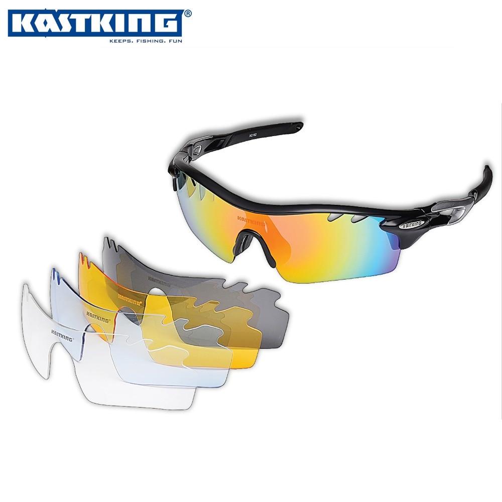 KastKing New Detachable Polarized Sports Glasses Set Set Interchangeable Lens Sports Eyewear Fishing Glasses Extra Free