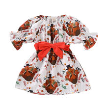430e2a261a79d Emmababy Newborn Kids Baby Girl Thanksgiving Cartoon Turkey Long Sleeve  Party Pageant Dress Clothes
