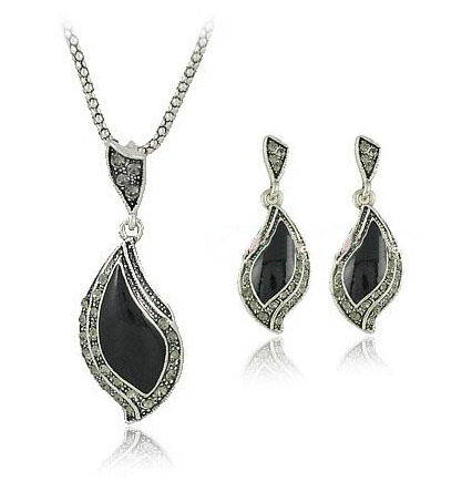 Fashion Sets necklace earring Jewelry Free Shipping/Retro Silver Jewelry LM-S018 ...