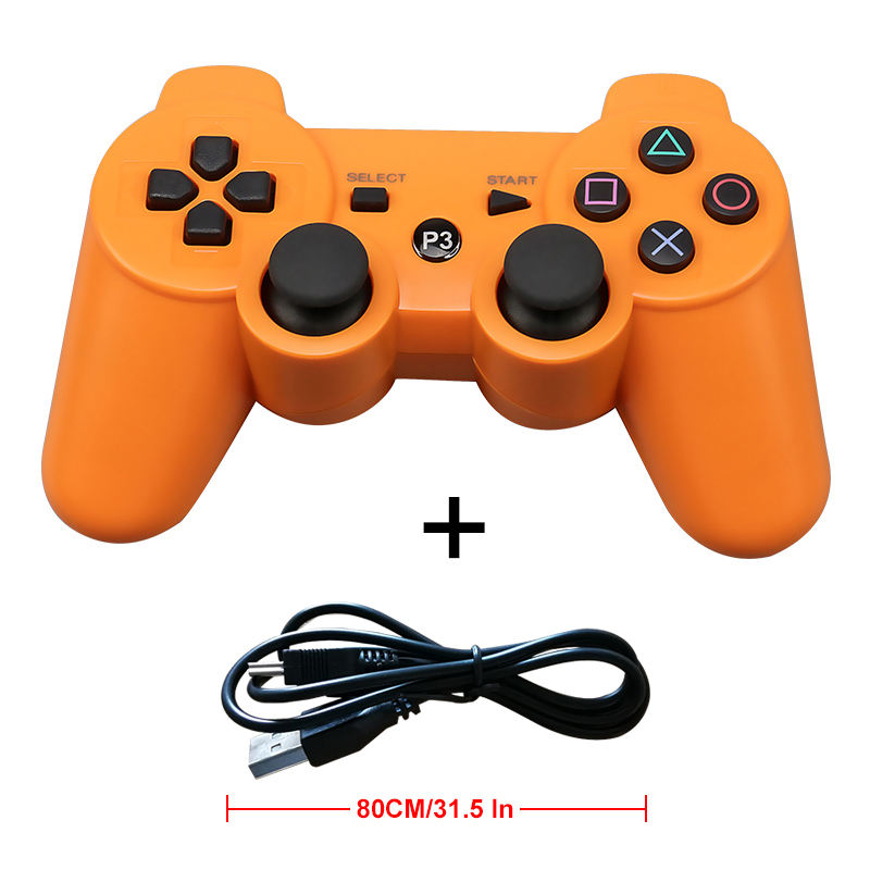 Wholesale Price Game Joystick 2.4GHz Wireless Bluetooth Gamepad Controller For Playstation PS3 Game Console FOR PS3 Gamepad sanwa button and joystick use in video game console with multi games 520 in 1