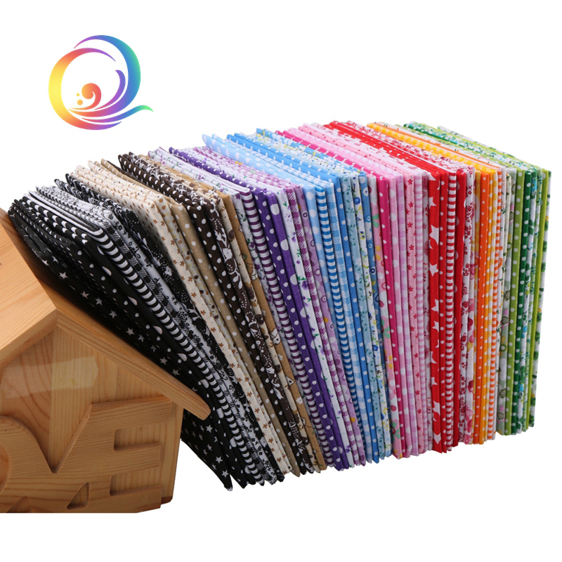 56pcs/lot Thin Cotton Fabric Patchwork For Quilting Sewing Fat Quarters Tissue Cloth Quilt Pattern Needlework Textile 50cm*50cm