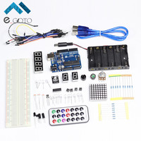 For Arduino Starter Kits Basis Learning Parts For Funduino Compatible For Arduino UNO MB 102 Eelectronic