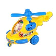 Классический ребенок любимый подарок мультфильм животное заводные игрушки вертолет заводная игрушка