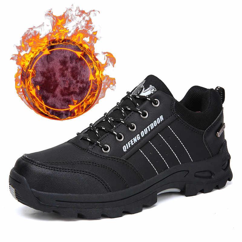 Vancat Neue Männer Stiefel Herbst Winter Herren Warme Plüsch Schnee Stiefel Mann Lässig Mode Schuhe Outdoor Berg Männer Turnschuhe Größe 36-47