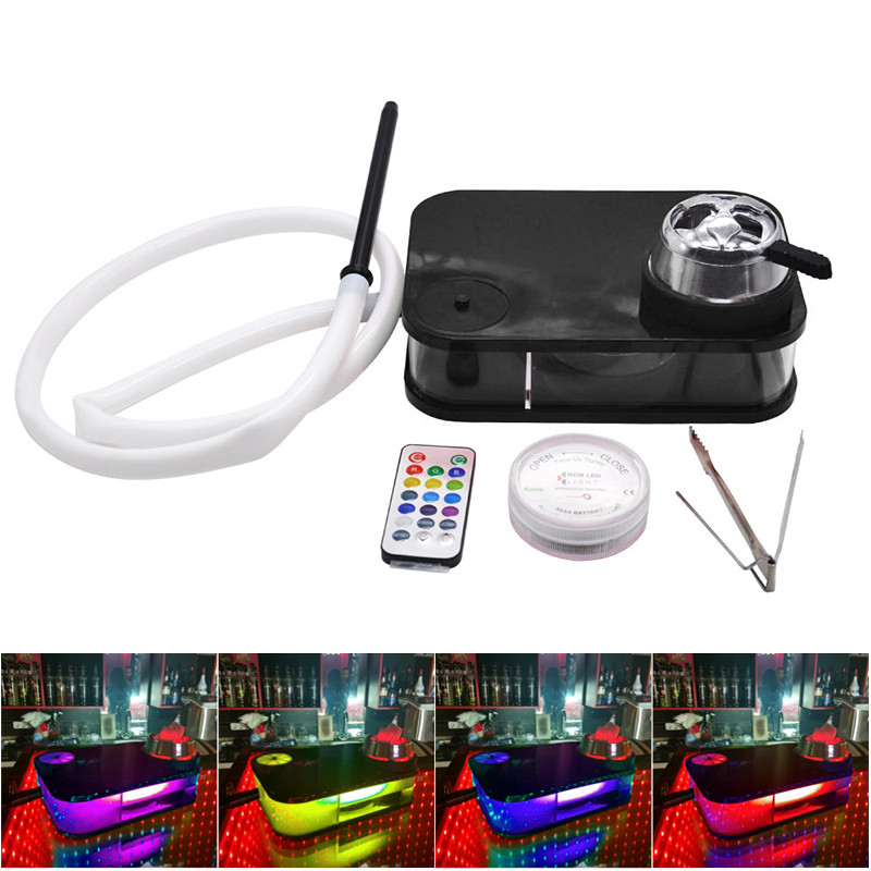 Hookah Set Acrylic Hookah Accessories Smoking Set With Bowl Hose Charcoal Set With LED Light Hookah Accessories Dropshipping XNC