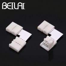 BEILAI 10 шт. RGB светодиодные ленты Разъем 4 шпильки 10 мм L T X форма сварочный разъем