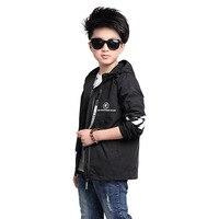 2017 New Sportswear Caot Boy Jacket Big Children Style Windbreaker Spring Autumn For Children S Clothing