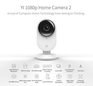 Image 2 - YI ev kamerası 2 1080P FHD akıllı kamera ev güvenlik kablosuz cctv kamera gece görüş ab Edition Android YI bulut mevcut