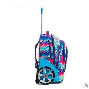 Image 3 - Sac à dos à roulettes pour adolescentes, 18 pouces, sac à dos à roulettes pour filles, pour enfants, sacs à rouler