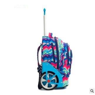 Trolley Rugzakken Tassen Voor Tieners 18 Inch School Wielen Rugzak Voor Meisjes Rugzak Op Wielen Kinderen Bagage Rolling Tassen - 3