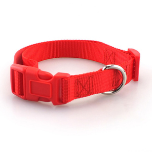 Image 4 - Pet Dog Collar Classic Solid Basic Polyester Nylon Dog Collar with Quick Snap Buckle, Can Match Leash & Harness