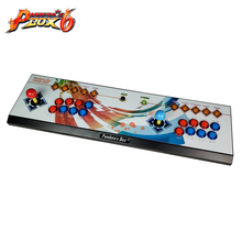 The latest design arcade double rocker game controller with Pandora's Box 6 multi game board ,1300 game in 1 2 player joystick game controller with multi game 1300 in 1 arcade game board