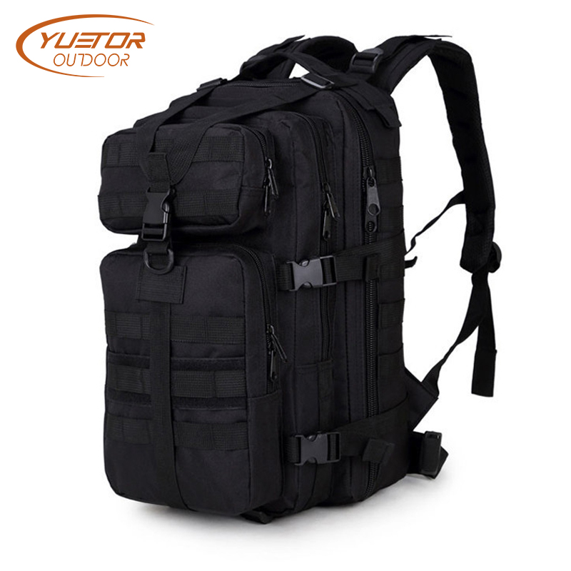YUETOR OUTDOOR 35L 3P Military Tactical Backpack Molle Army Assualt Pack Waterproof Tactical Bag for Hiking Camping Hunting 20l outdoor hiking camping hunting molle 3p military tactical backpack male nylon army pack mochila military tactical bag