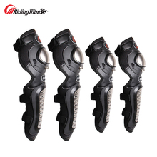Riding Tribe Stainless Steel Knee Pads Elbow Pads Motorcycle Riding Motocross Racing Shin Guards Lightweight Breathable HX-P15