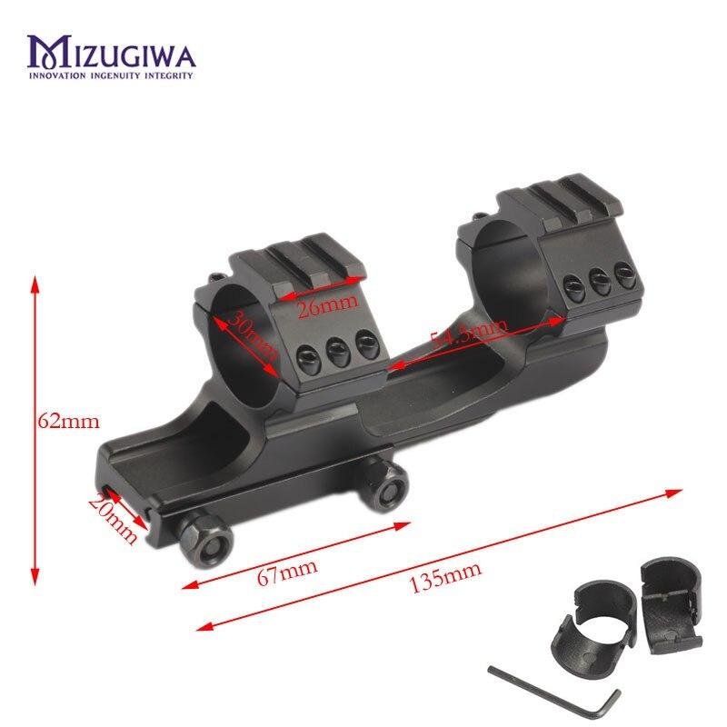 Mizugiwa cantilever supporto cannocchiale w dual 30mm anello sim card e adattatori heavy duty picatinny ferroviario picatinny del tessitore della pistola airsoft