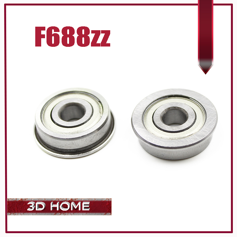 10Pcs F688-2Z F688ZZ F688zz F688 zz F628/8ZZ Flanged Flange Deep Groove Ball Bearings 8 x 16 x 5mm Free shipping for 3D printer free shipping 10 pcs mf74zz flanged bearings 4x7x2 5 mm flange ball bearings lf 740zz