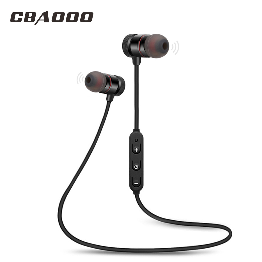 CBAOOO C40 bluetooth earphone wireless bluetooth headset Sports headphones Magnetic earphone with microphone for Android iPhone joway wireless bluetooth headphones handsfree headset sweatproof earbud earphone with microphone for xiaomi huawei iphone