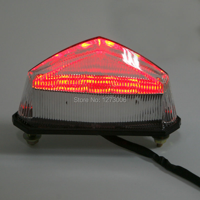 NEW 1Pcs Motorcycle ATV 10 Red LED Brake Tail Lights 12V 1.5W Stop Running Turn Signal Indicator Light Car-styling Universal HOT  1 piece red rectangle red len led reflectors brake light universal motorcycle brake light car brake lights moto stop light