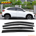For 2015-2016 Honda HRV HR-V Full Set Mugen Style Smoked JDM Stick On Window Visors USA Domestic Free Shipping