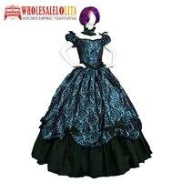Vintage Victorian 1860s Civil War Ball Dress/Gothic Lolita Dress Renaissance dress All size