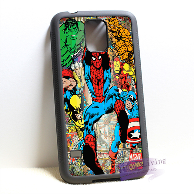 Marvel comics book tumblr super heroes spiderman phone  case for samsung galaxy S3 S4 S5 S6 edge S7 edge Note 3 4 5