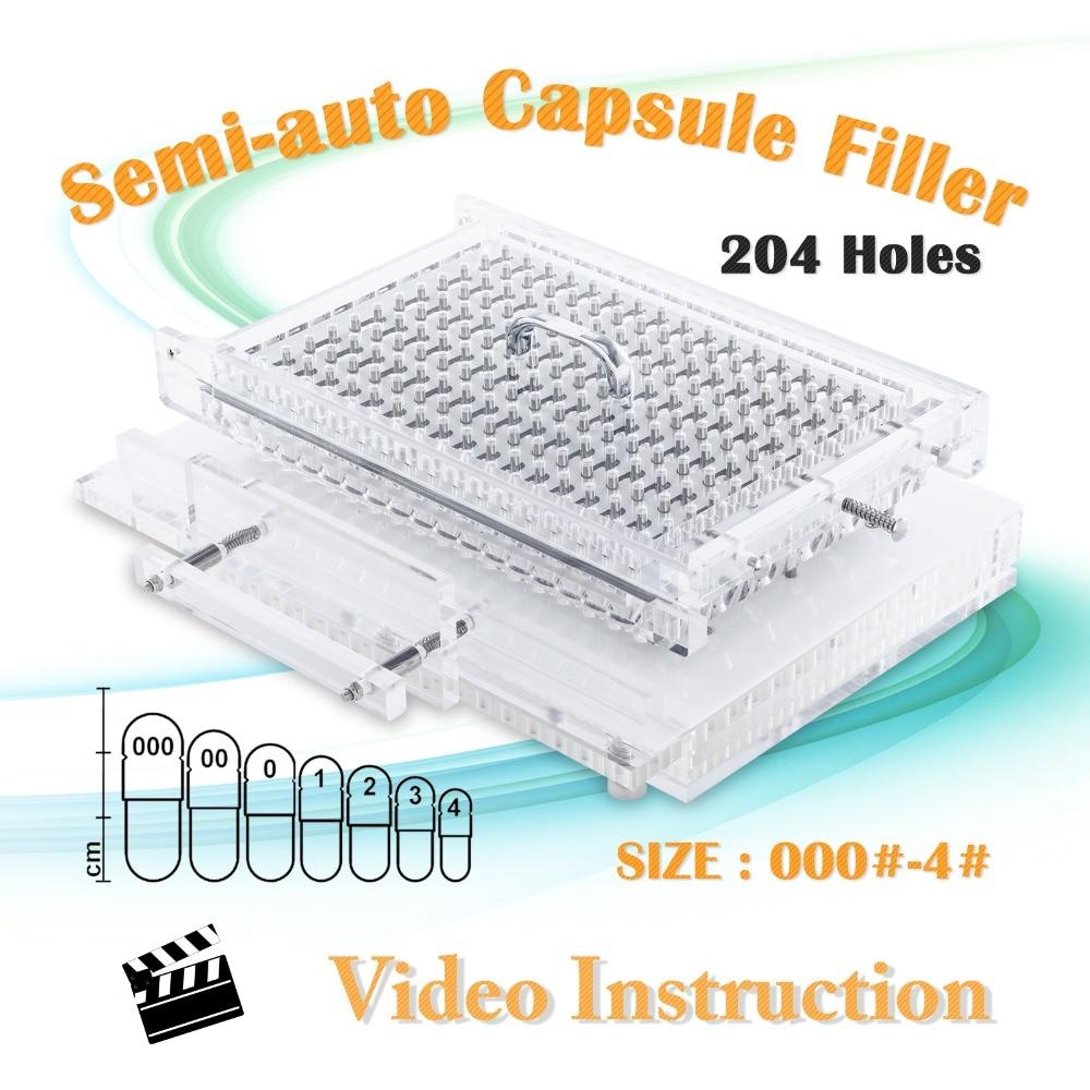 2000pcs/ Hour Special Design, Fast Capsule Maker, Power Filling Machine Size 000-4, CN-204SCL