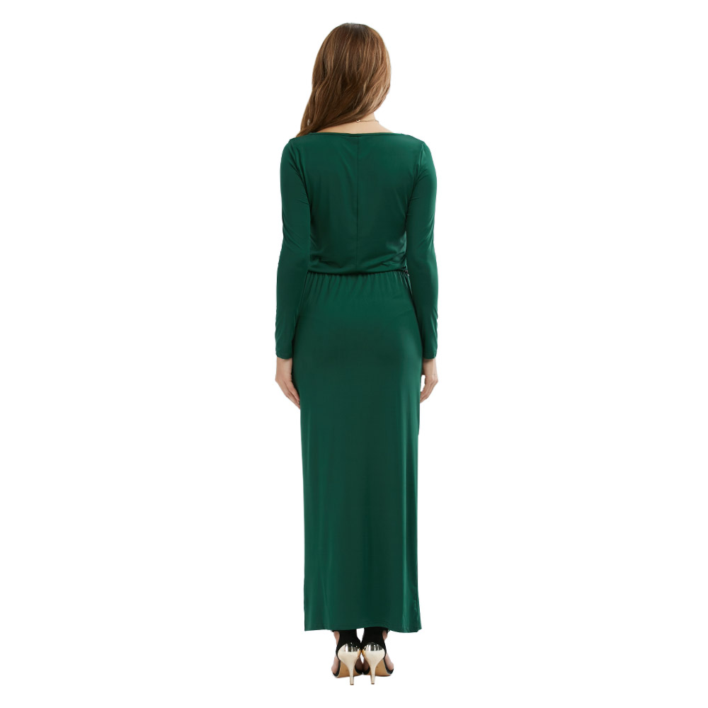 VESTLINDA Vintage Vestidos Longo Jurken Women Maxi Dress Full Sleeve Casual Dress Autumn A Line Solid Ropa Mujer Long Dress 8