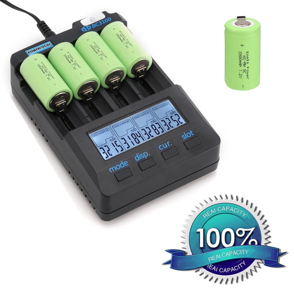 Anmas power!new goods !4 pcs sub c SC battery Ni-Cd battery rechargeable battery 56 g 3300mh with tab-green color 4.25CM*2.2CM