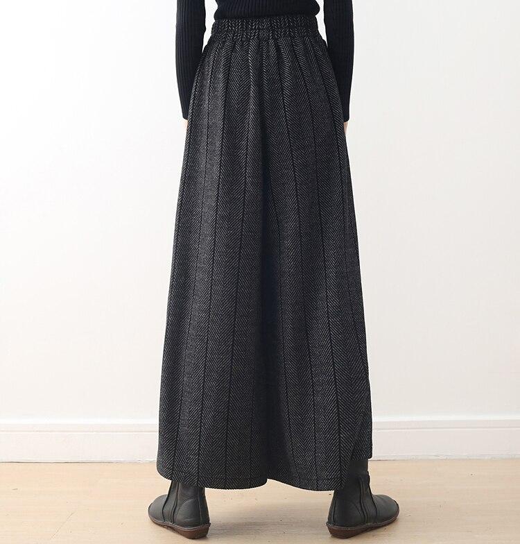 Mujeres Mujer Gray Pantalones Las Cintura Tamaño Casual La Invierno Rayas Pierna Alta Plus Elástica Ancha Gruesa De Calidad TAntPt