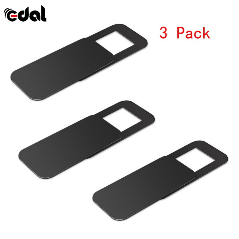 EDAL 3Pc Plastic WebCam Shutter Cover Web Camera Secure Protect Privacy for Desktop Laptop Phone Plastic Cameras Protection Tape image