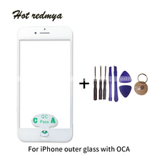1Pcs Outer Glass With OCA + Frame For iPhone 6G 6Plus 6S 6SP Touch Screen Digitizer Panel Lens Replacement Front Glass+Tool 1pcs touch screen panel glass digitizer for korg m3 73 xpanded