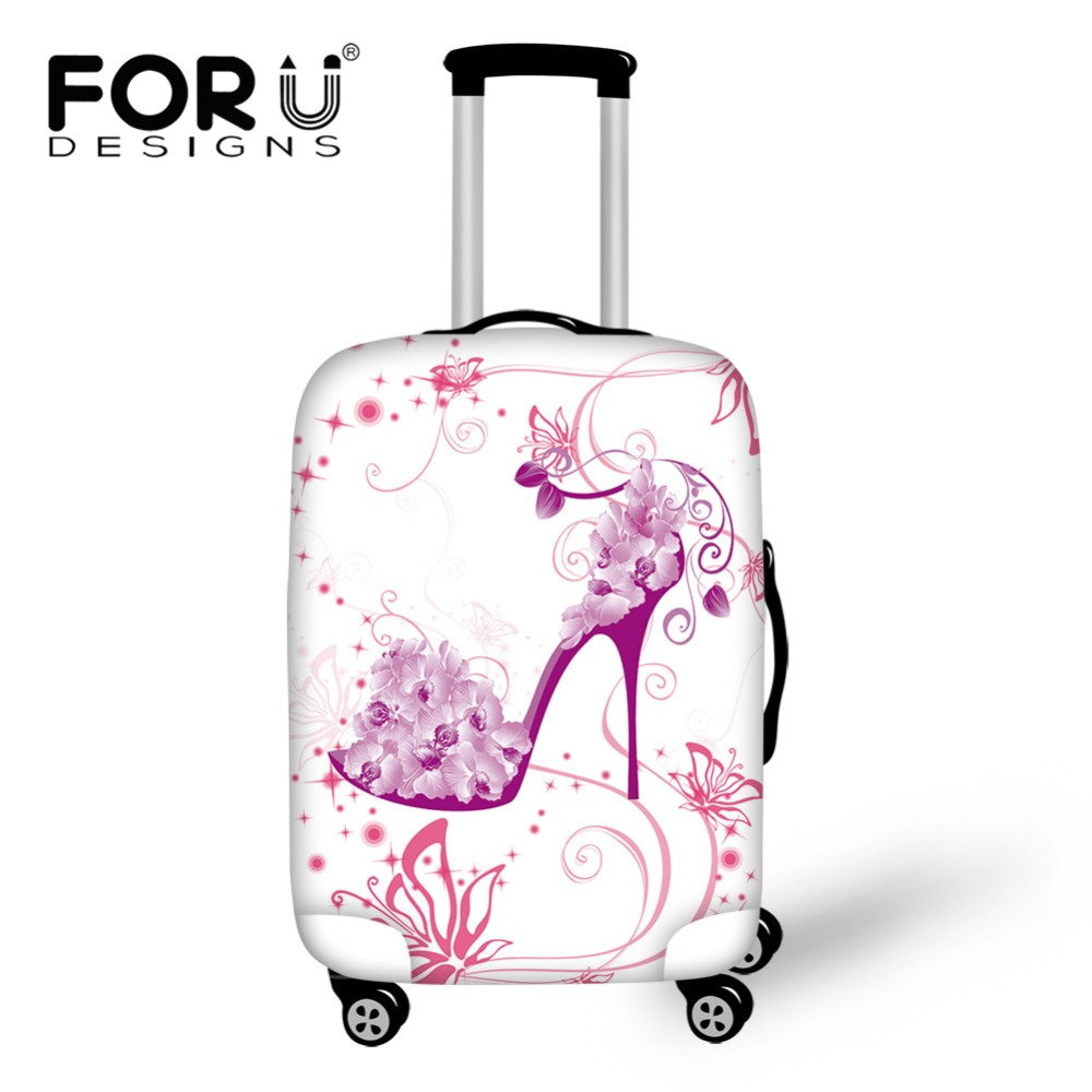 Cute 3D Different Style Leaves Pattern Luggage Protector Travel Luggage Cover Trolley Case Protective Cover Fits 18-32 Inch