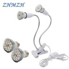 220V E27 светодиодный растениеводства лампы 18 светодиодный s 28 светодиодный s огни полный спектр роста растений лампы для комнатных растений цветок в горшке для посадки