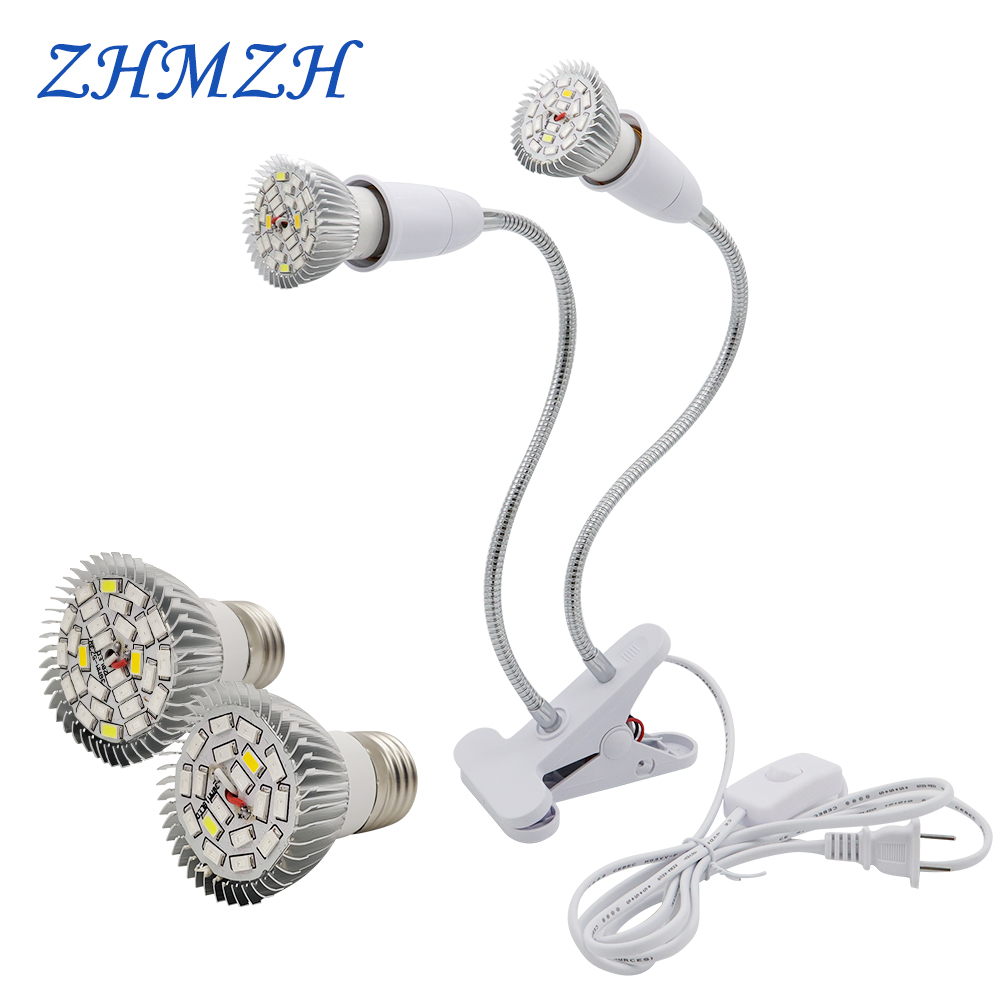 220V E27 LED Plant Growing Lamp Bulbs 18LEDs 28LEDs Growing Lights Full Spectrum Growth Lamps For Indoor Flower Potted Planting