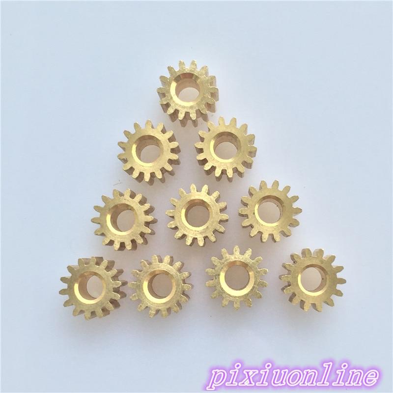 10 Stücke K093y Mini 3,17mm Poren 14 Zahn Messing Motor Welle Getriebe Diy Spielzeug Teile Hohe Qualität Auf Verkauf Knitterfestigkeit