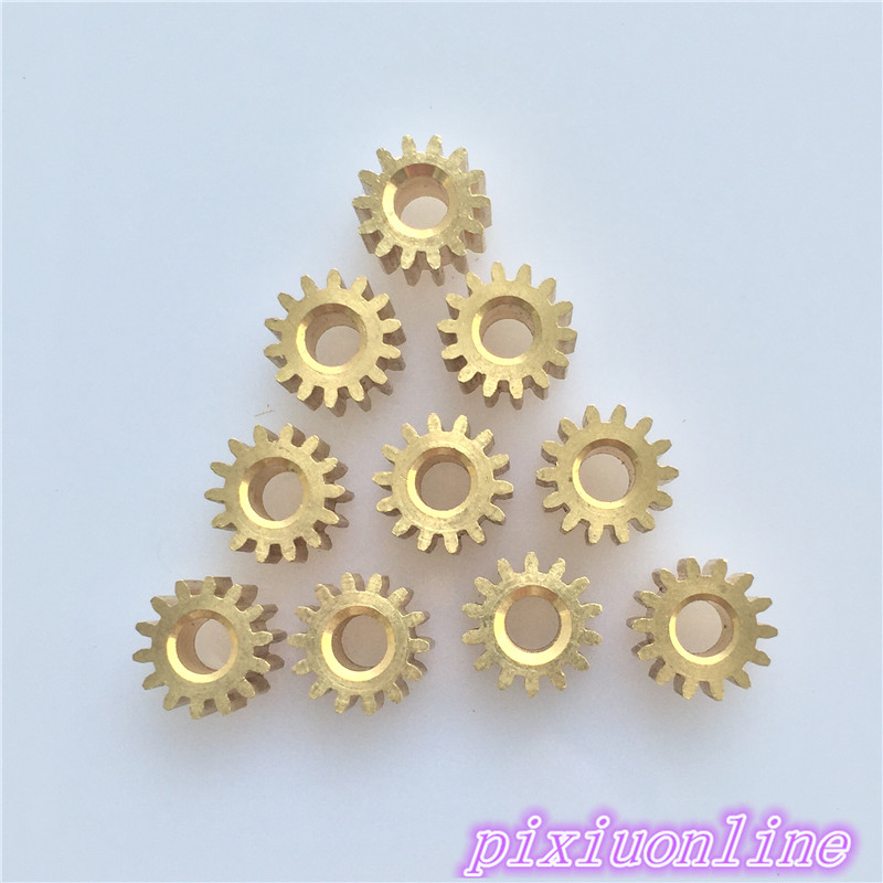 10pcs K093Y Mini 3.17 MM Pore 14 Tooth Brass Motor Shaft Gear DIY Toys Parts  High Quality On Sale
