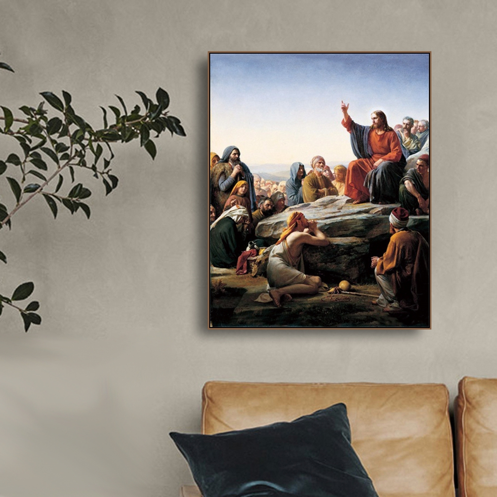 Laeacco Canvas Painting Calligraphy Classic Religion Posters and Prints God Wall Art Home Decoration Living Room Bedroom Decor in Painting Calligraphy from Home Garden
