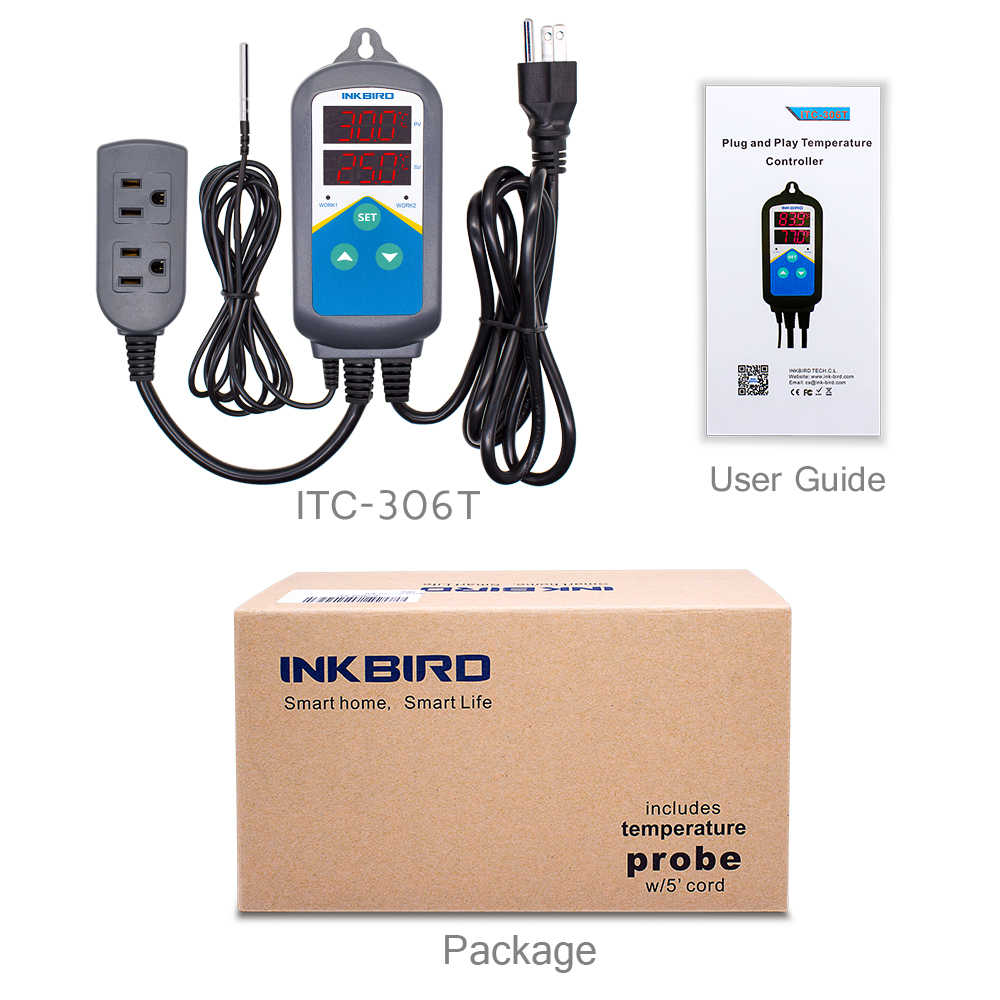 ITC-306T Pre-wired Elektronische Heizung Thermostat Temperatur Controller und Digital Timer-Controller Ohne Kühlung Steuerung