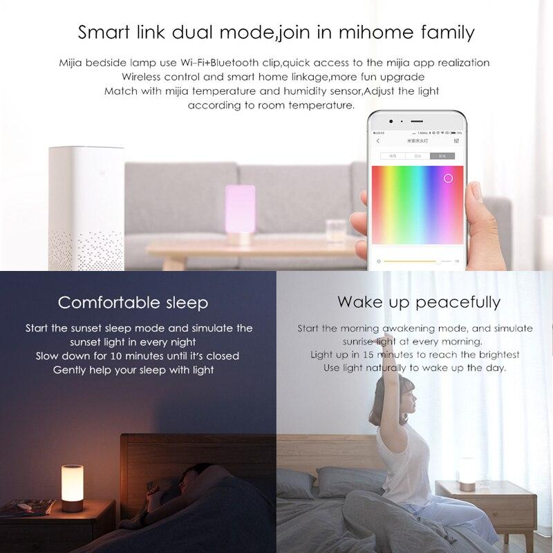 Image 2 - Оригинальный Xiao mi jia умный светильник s для помещений прикроватная настольная лампа 16 mi llion RGB Ночной светильник Wi Fi Bluetooth для Smart mi Home APP-in Настольные лампы from Лампы и освещение