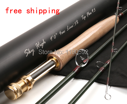 Maxcatch IM12 Carbon Skyhigh 9054  9FT  5WT  4SEC Fly Fishing Rod  With a Aluminium Tube  Fly Rod