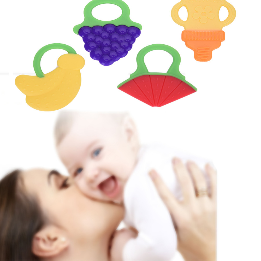Safe Glister Baby Teether Silicone Teether Infant Training Tooth Fruit Baby Toy Baby Toothbrush Dental Care Teething Massager